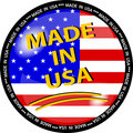 Made in usa button Royalty Free Stock Photo