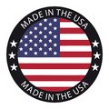 Made In The USA Button - Vector Illustration - Isolated On White Royalty Free Stock Photo