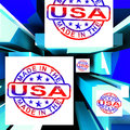 Made In The USA On Cubes Showing Patriotism Royalty Free Stock Photos