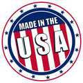 Made in the USA decal Royalty Free Stock Photo