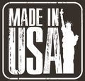 Made in usa grunge rubber stamp on black background Royalty Free Stock Photos