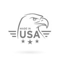 Made in USA icon with American Eagle emblem. Vector illustration Royalty Free Stock Photo