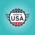 Made in USA icon concept old retro grunge badge design