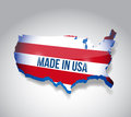 Made in usa map illustration design over a white background Royalty Free Stock Image