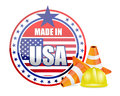 Made in usa protection warranty illustration design over a white background Stock Images