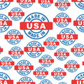 Made in USA seamless pattern background icon. Flat vector illust