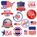 Made in the usa set of vector graphic icons and labels Stock Photography