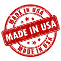 Made in USA stamp Royalty Free Stock Photo