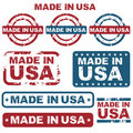 Made in USA stamps Royalty Free Stock Photo