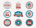 Made in usa stamps and seals collection of Stock Photo