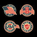 Made in usa united states of america set of badges and labels Royalty Free Stock Images