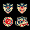 Made in usa united states of america set of badges and labels Royalty Free Stock Photo