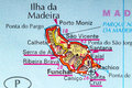 Madeira map the island of in detail on the Stock Photo