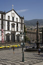 Madeira - Praca do Municipio in Funchal Royalty Free Stock Image