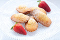 Madeleine small traditional French desserts Royalty Free Stock Photo
