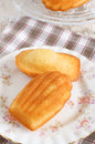 Madeleines or petite madeleine a traditional cake from the lorraine region of france Stock Images