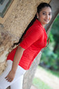 Madhu nithyani is a new actress in srilanka news paper photoshoot at colombo Stock Images