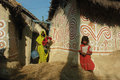 Madhubani painting in Bihar-India Stock Photography