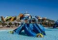 Madinat Makadi – January 2016: Water park, hill for children i