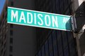 Madison avenue new york city united states famous sign in manhattan Stock Images