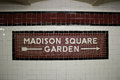 The Madison Square Garden Subway Station, NYC Royalty Free Stock Photos