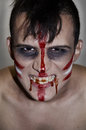Madman indian the teenager in the form of a zombies on halloween Royalty Free Stock Photos