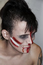 Madman indian the teenager in the form of a zombies on halloween Stock Photography