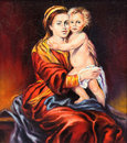 The Madonna with the child Stock Photos