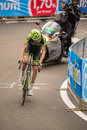 Madonna di campiglio italia maggio ryder hesjedal during a stage of giro d italia the fifteenth the tour italy mountain from Royalty Free Stock Photos
