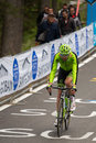 Madonna di campiglio italia maggio ryder hesjedal during a stage of giro d italia the fifteenth the tour italy mountain from Stock Photography