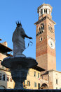 Madonna fountain on Piazza delle Erbe in Verona, Italy Royalty Free Stock Photo