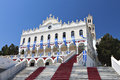 The madonna of tinos island greece church panagia evangelistria at in Royalty Free Stock Photos