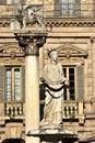 Madonna Verona fountain and Venice Lion, city landmarks Royalty Free Stock Photo
