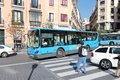 Madrid bus spain october people ride city in emt is s main operator it uses fleet of more than buses and serves Stock Photography