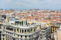 Madrid city skyline spain modern photo taken from top of circulo de bellas artes Royalty Free Stock Photography