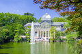 Madrid crystal palace the palacio de cristal or is a large glass building in spain it is located in the retiro park on the paseo Stock Photos
