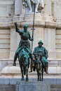 Madrid don quijote and sancho panza statue spain Royalty Free Stock Photos