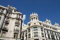 Madrid gran via street in spain famous ornamental architecture Stock Image
