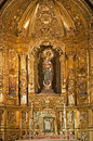 Madrid madonna baroque altar capilla del sanctisimo church san isidoro march madrid Royalty Free Stock Photos