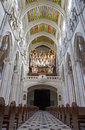 Madrid nave and chorus of almudena cathedral gothic revival style santa maria la real de la projected by francisco de cubas Royalty Free Stock Photos