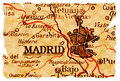 Madrid old map Royalty Free Stock Photography