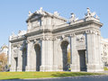 Madrid Puerta de Alcala Royalty Free Stock Photo