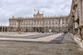 Madrid royal palace february cloudy day Stock Image
