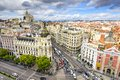 Madrid, Spain Cityscape Royalty Free Stock Photo