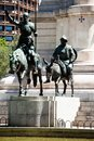 Madrid spain monuments at plaza de espana famous fictional knight don quixote and sancho pansa from cervantes story Stock Photo