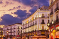 Madrid Spain at sunset Royalty Free Stock Images