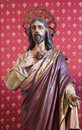 Madrid statue of heart of jesus from chruch san jeronimo el real on march in Royalty Free Stock Images