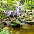 Mae Kampong Waterfall Chiang mai  Thailand. Royalty Free Stock Photo