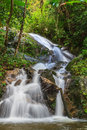 Mae Kampong Waterfall in green forest Royalty Free Stock Photo