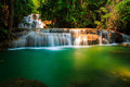 Mae khamin waterfall thailand at in Stock Image